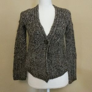 LOFT • Alpaca and Wool Blend Cable Knit Cardigan